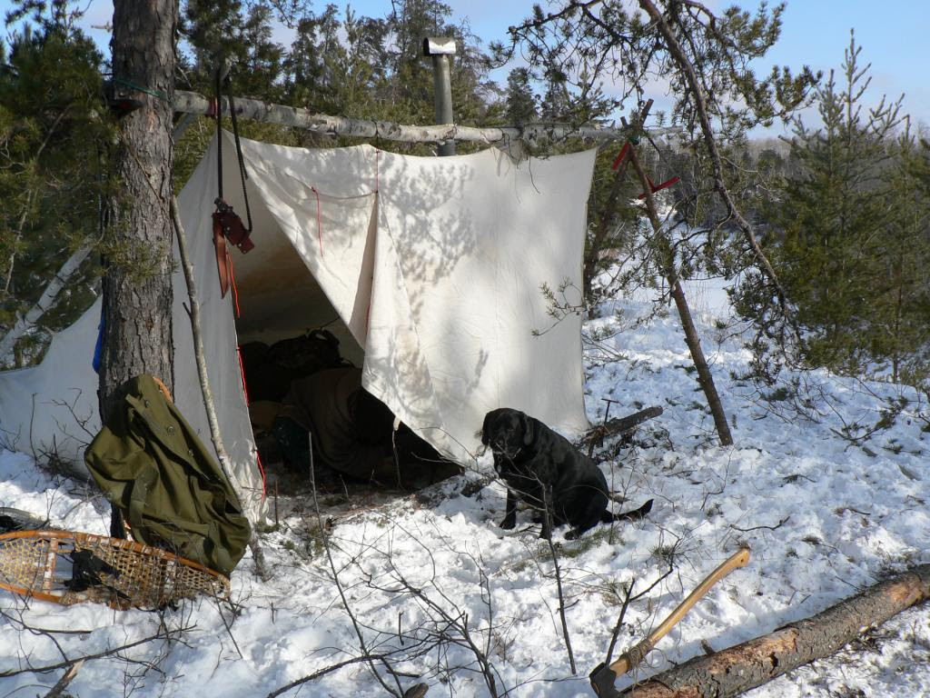 winter-camping-outside-tent
